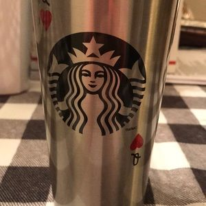 Stainless steel queen of hearts tumbler